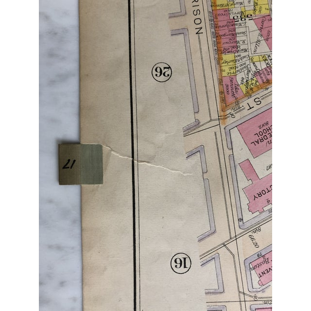 1920s 1920s Vintage Bromley Boston's South End Map For Sale - Image 5 of 6