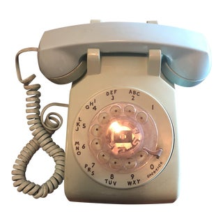 Mid-Century Blue Dial Telephone For Sale