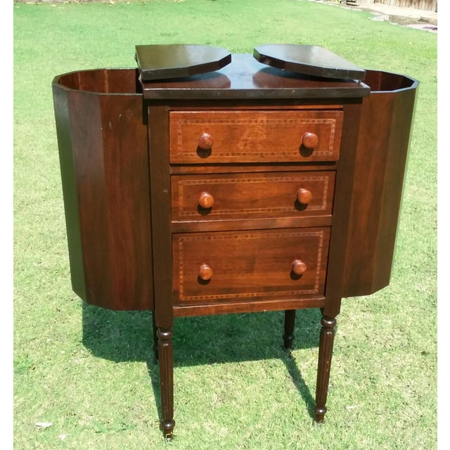Martha Washington Antique Sewing Cabinet, circa 1920. This beautiful item found in a local antique shop is a depression...