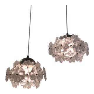 Mid-Century Modern Acrylic Floral Pendant Lights For Sale