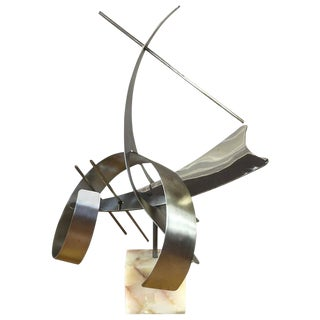 Monumental Abstract Steel Sculpture by Curtis Jeré For Sale