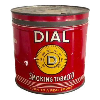 Vintage Tobacco Tin With Labels For Sale