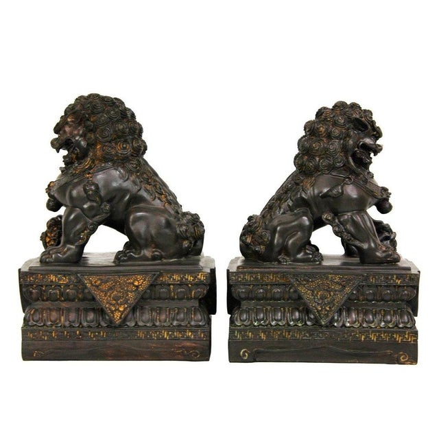 Chinese Foo Dog Statues - A Pair - Image 2 of 4