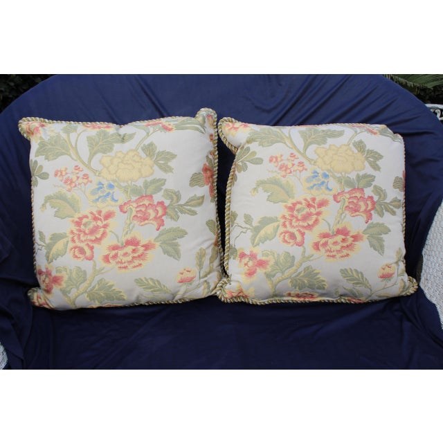 Pr. of possible Italian scalamandre down filled pillows