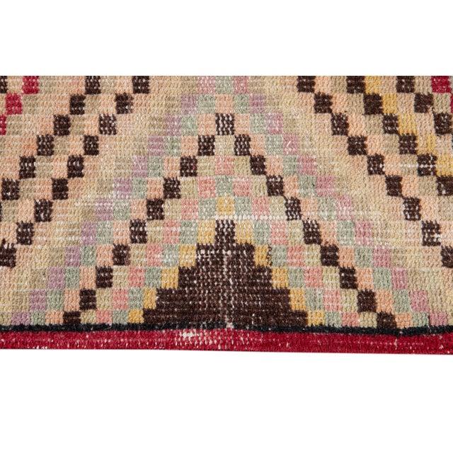 Beige Vintage Turkish Scatter Wool Rug 4 X 7 For Sale - Image 8 of 13