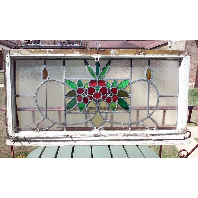 Vintage Stained Glass Window - Image 2 of 6