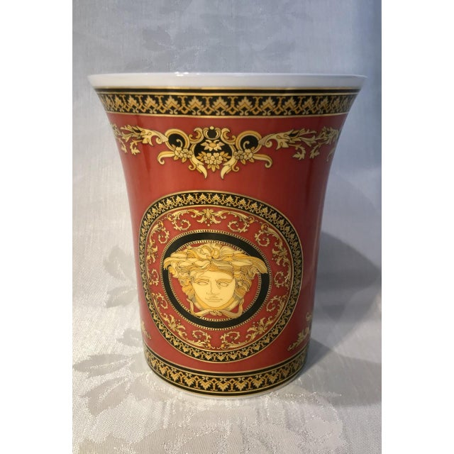 Hollywood Regency 20th Century Regency Versace Medusa Vase For Sale - Image 3 of 3