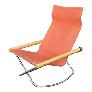 "1950s Vintage Takeshi Nii ""Ny"" Folding Rocking Chair For Sale"