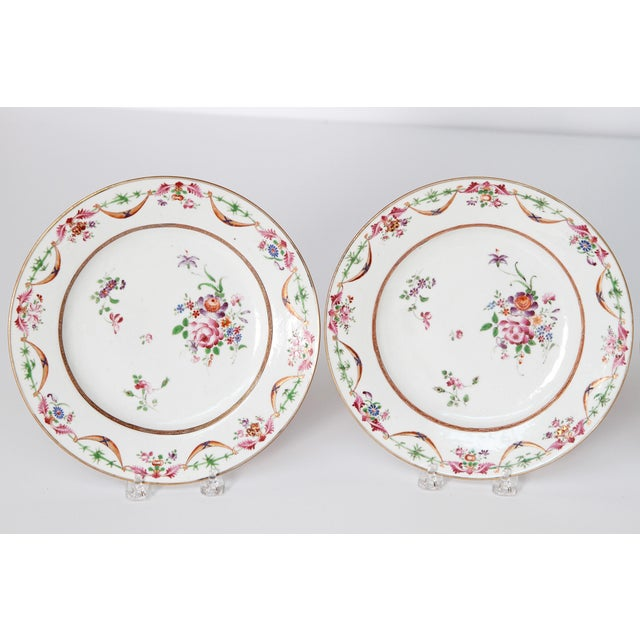 Ceramic Early 19th Century Chinese Porcelain Plates Set of Six For Sale - Image 7 of 13