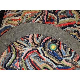 1920s, Handmade Antique American Hooked Rug 2' X 3.2' Preview