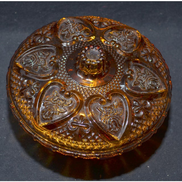 Anchor Hocking Renaissance Amber Glass Covered Dish - Image 2 of 7