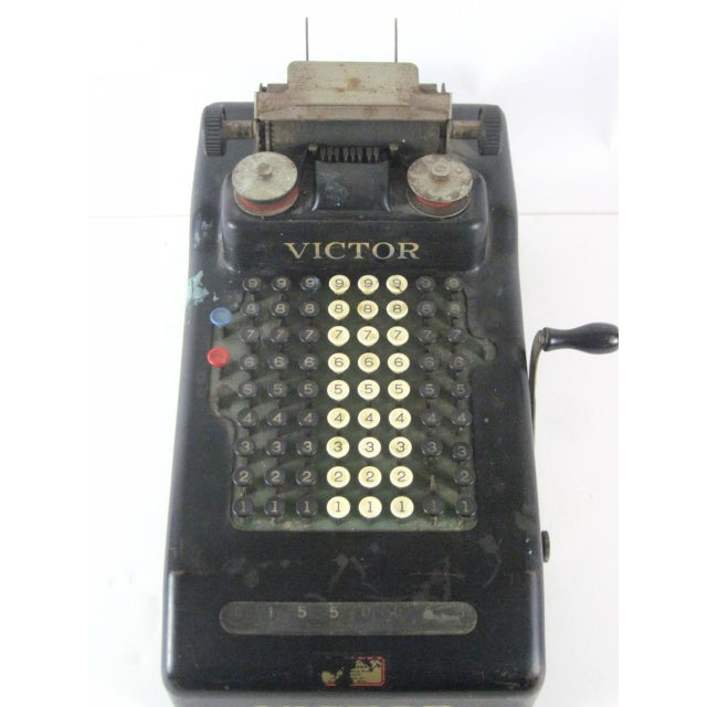 Industrial Victor Hand Crank Adding Machine For Sale - Image 3 of 4