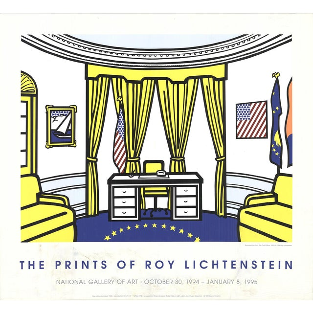Roy Lichtenstein, the Oval Office, Serigraph, 1997 For Sale