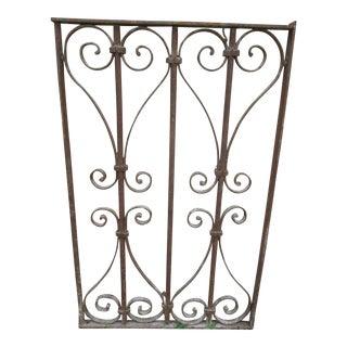 Victorian Iron Salvage Door #19 For Sale