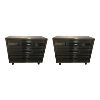 Pair of American 1940s Gentlemen's Chest of Drawers For Sale