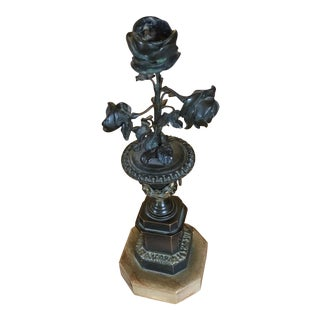 19th C. Bronze & Marble Candle Stand