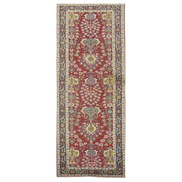Vintage Persian Tabriz Rug - 3'2'' x 11'6'' For Sale