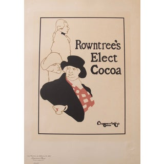 Original 1890s French Belle Epoque Poster, Rowntree Cocoa For Sale