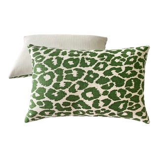 Schumacher Iconic Leopard and Osbourne & Little Pebble 12x18 Pillows - a Pair For Sale