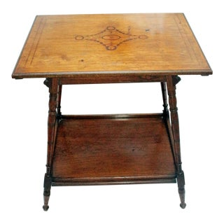 Late 19th Century English Sheraton Revival Side Table For Sale