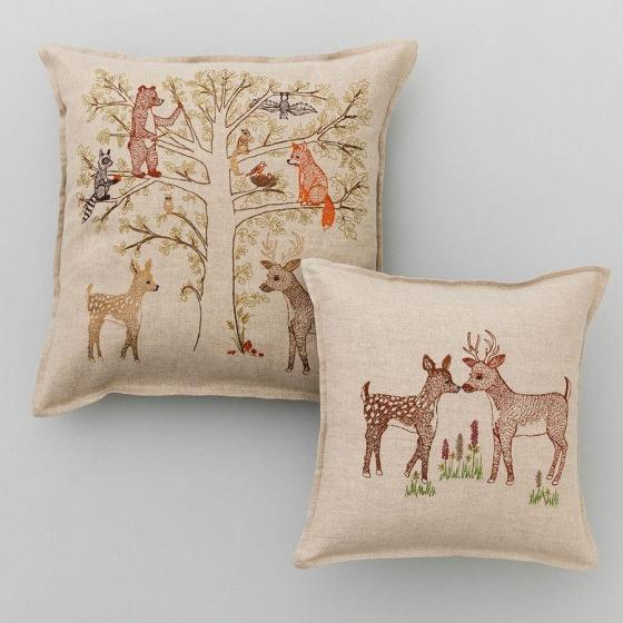 Woodland Living Tree Pillow - Image 2 of 3