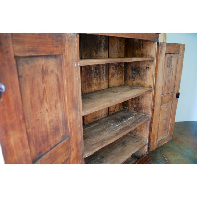 Late 18th/Early 19th Century Antique Hand-Painted Armoire of European Origin For Sale - Image 6 of 9