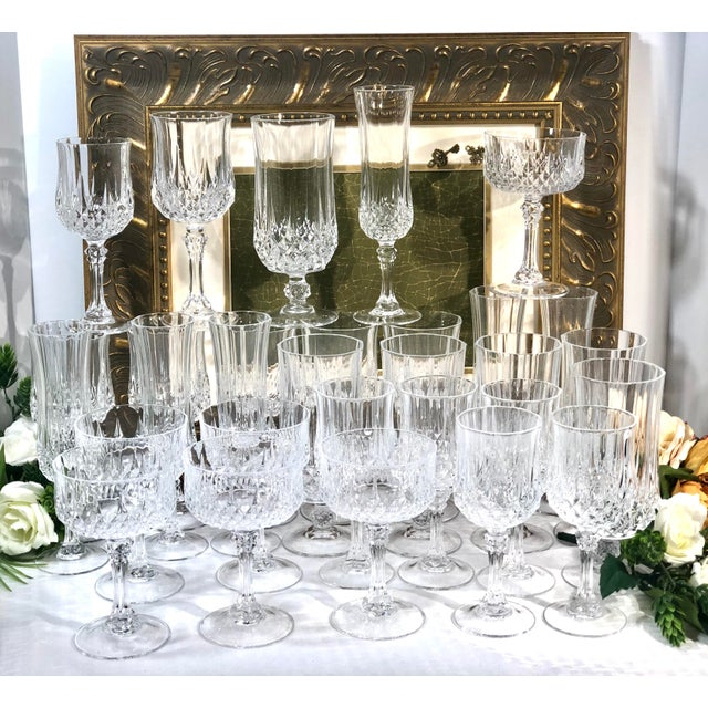 Traditional Cristal d'Arques Durand Longchamp 5 Pc. Place Setting - 6 Sets / 30 Total Pieces For Sale - Image 3 of 10