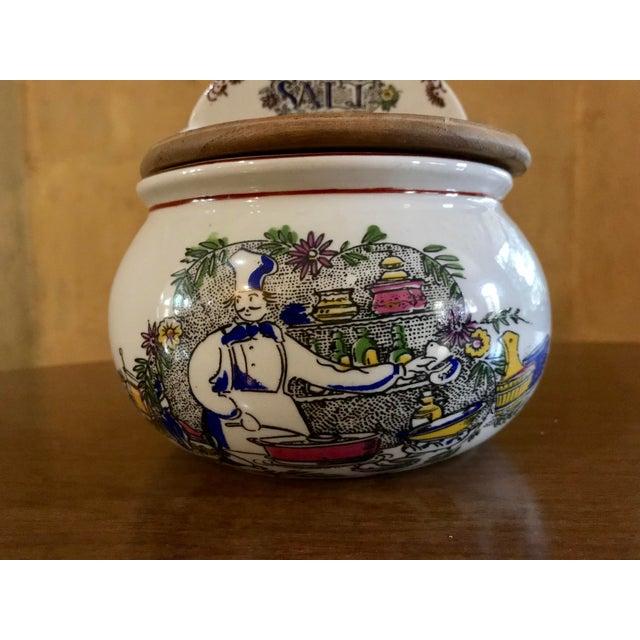 Vintage Ceramic French Salt Box For Sale - Image 9 of 11