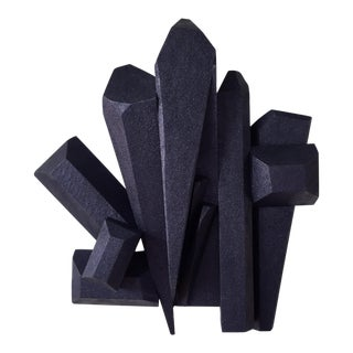 AbstractDark Crystals Sculpture For Sale
