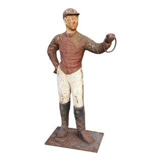Antique Lawn Jockey Hitching Post For Sale