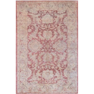 "Mansour Fine Handwoven Agra Rug - 6' X 8'10"" For Sale"
