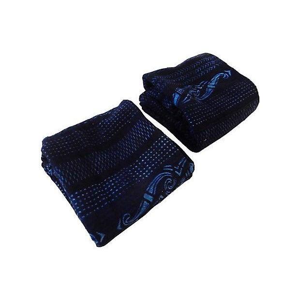 Indigo Mali Textiles - A Pair - Image 8 of 8
