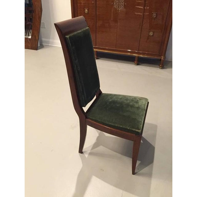 Gaston Poisson Numbered French Art Deco Dining Chairs - Set of 6 - Image 3 of 5