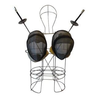 Vintage Fencing Gear With Wire Torso - Set of 5