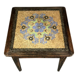 C1900 French Country Pebble Mosaic Table