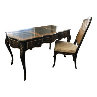 Drexel Heritage Louis XV Style Desk & Chair