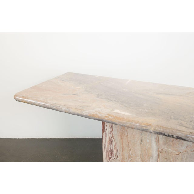 Late 20th Century Marble Console Table For Sale In Seattle - Image 6 of 7