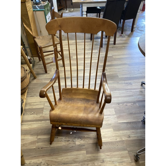 Early 19th Century Vintage Refinished Rocking Chair For Sale - Image 5 of 5