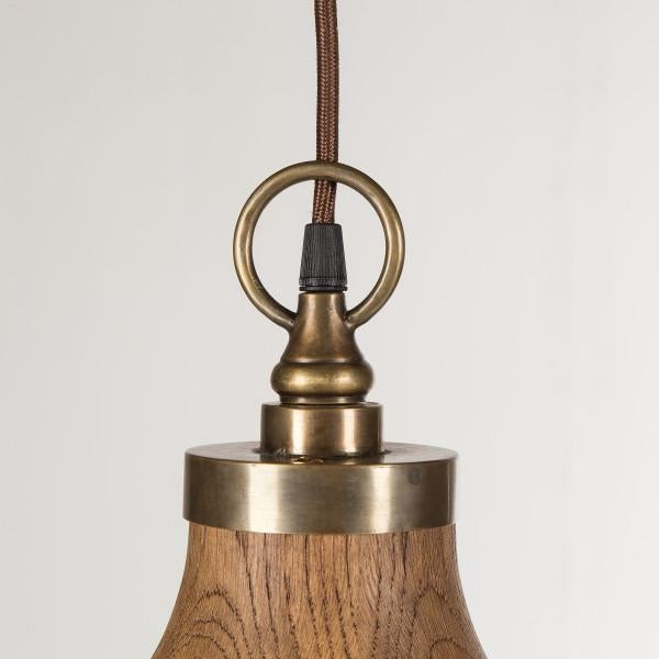 Contemporary Contemporary Big Sur Wooden Pendant Light - Small For Sale - Image 3 of 7