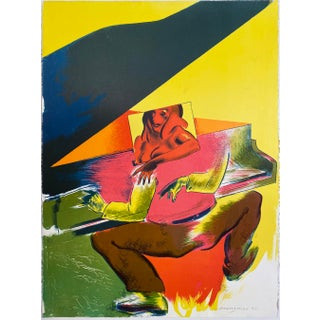 "1995 Allen Jones ""Playtime"" Five Color Hand Printed Stone Lithographic Limited Edition Print For Sale"