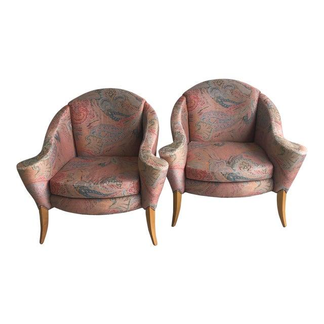 Thayer Coggin Design Studio Vintage Lounge Chairs - a Pair For Sale
