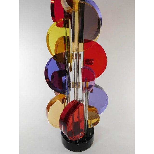 Michael George Sunburst Kinetic Lucite Sculpture - Image 10 of 10
