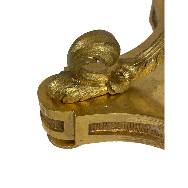 Bronze Louis XVI Style Bouillotte Lamp With White Tole Shade For Sale - Image 8 of 9