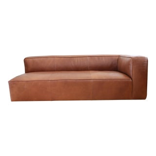 Mid-Century Modern Leather Sofa