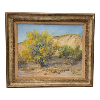 "Stella McLennan Roca ""Southwest Landscape"" Original Oil Painting C.1930s For Sale"