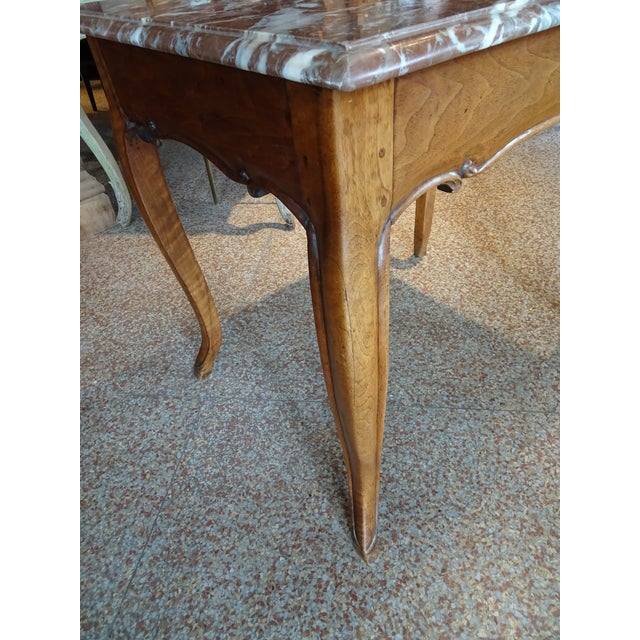 Mid 19th Century 19th Century French Marble Top Table For Sale - Image 5 of 12