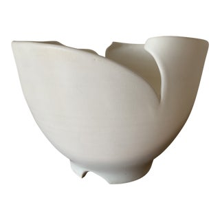 Vintage Artist Made Porcelain Bowl For Sale