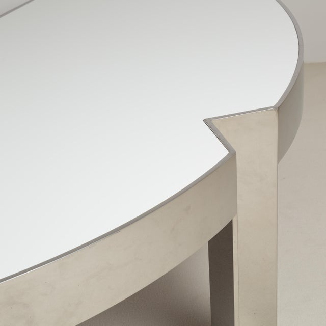 Mid-Century Modern A Pace Designed Chromium Steel and Ivory Lacquer Desk, 1970s For Sale - Image 3 of 10
