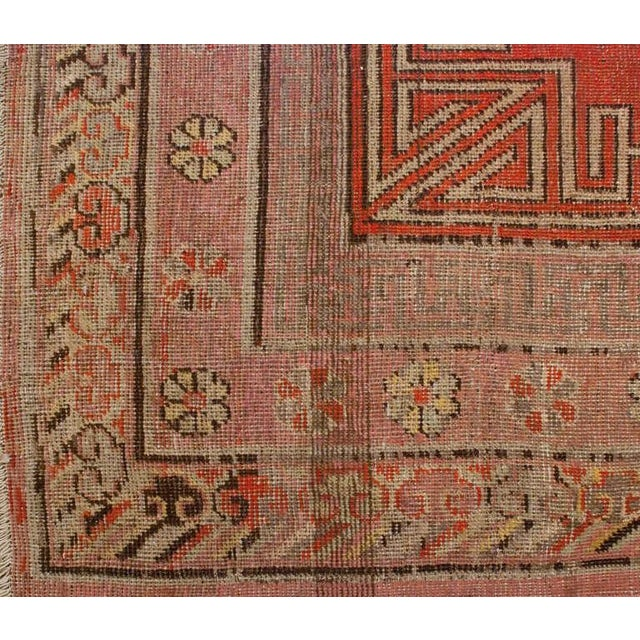 """Late 19th Century Khotan Rug - 76"""" x 156"""" For Sale - Image 4 of 6"""