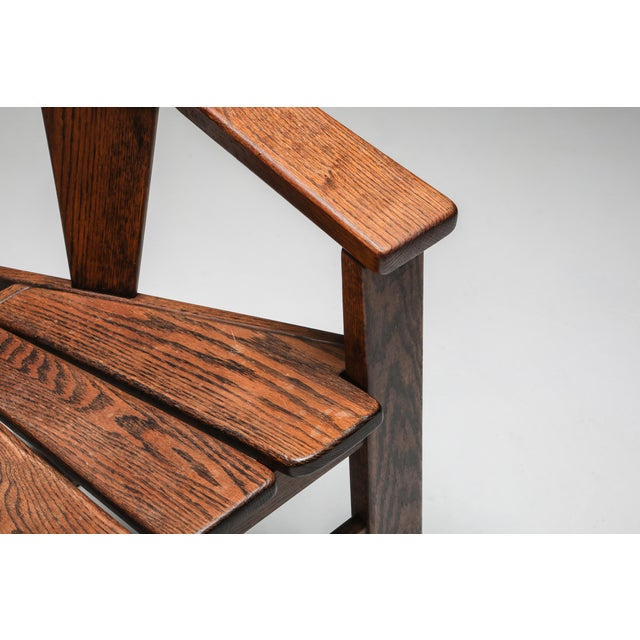 Walnut Craftsman Chair - 1960s For Sale - Image 9 of 13